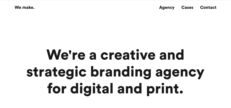 creative web agency we make