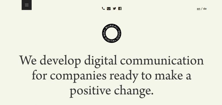 Creative Agency Bureau for Digital Good