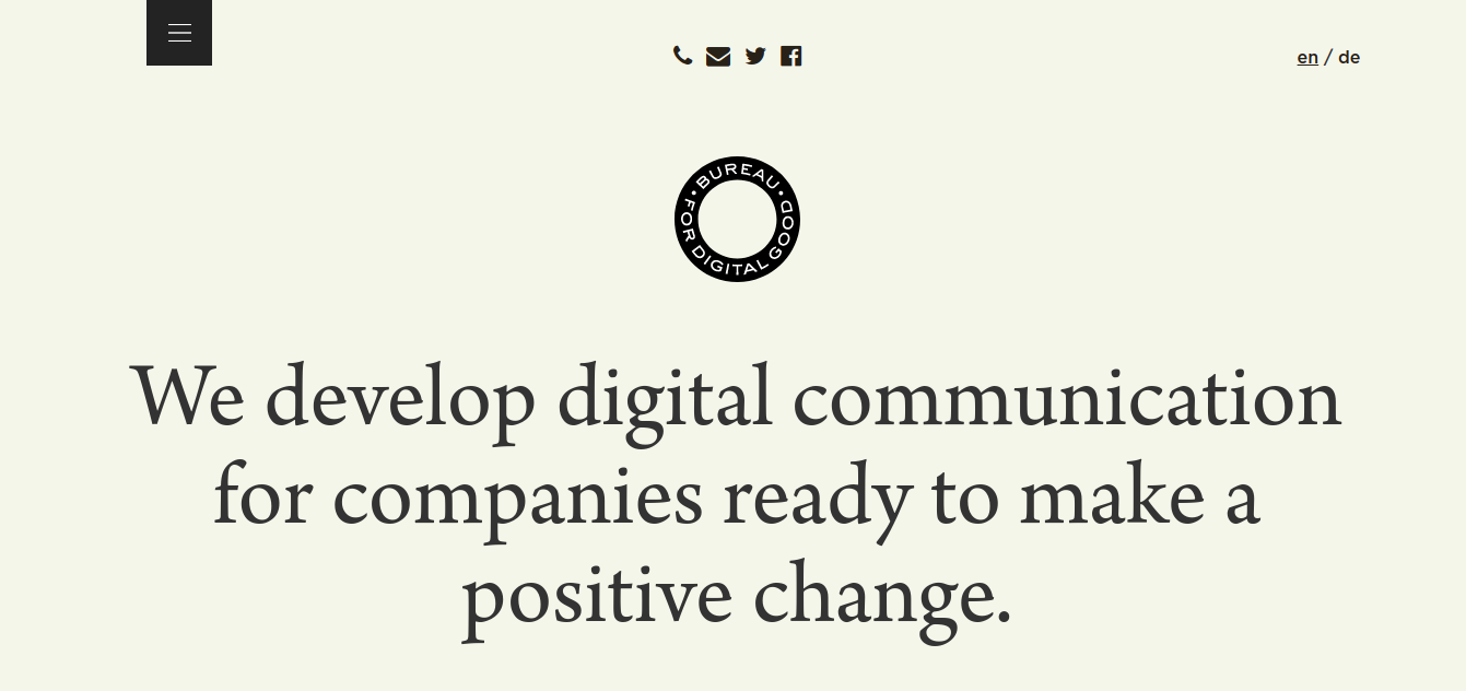a creative company Bureau for Digital Good