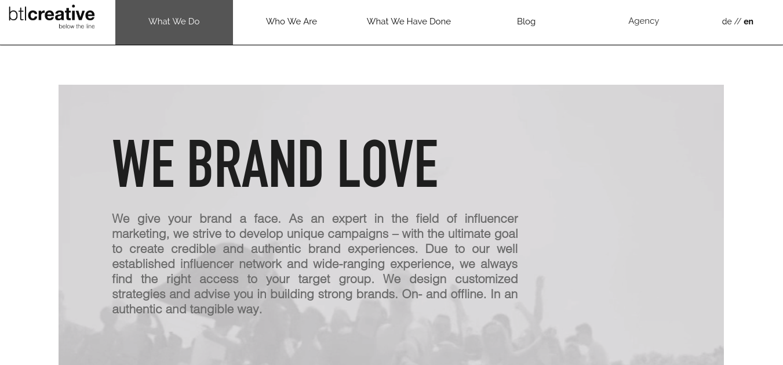 digital creative agency btl creative