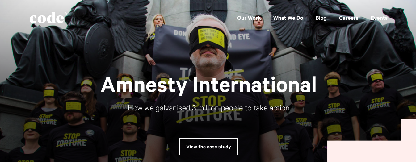 creative agency code main page