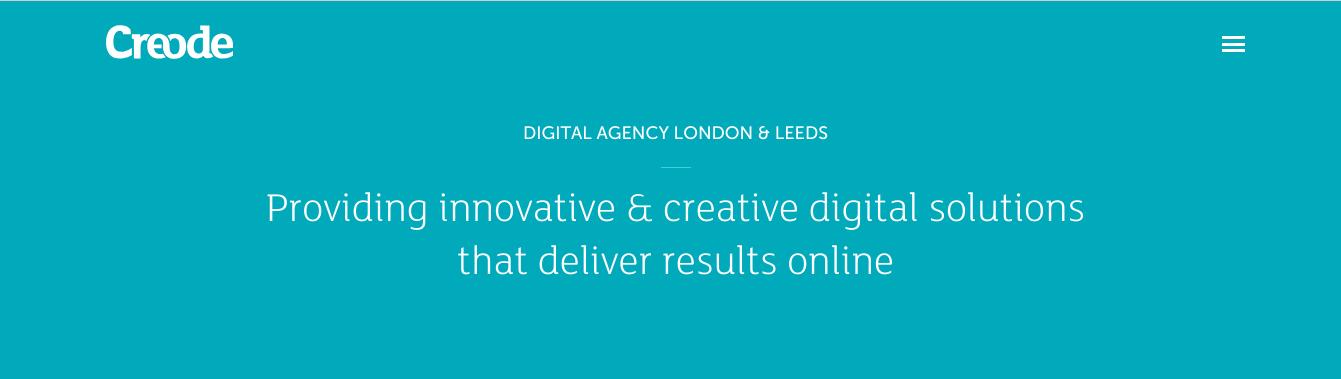 creative agency creode main page