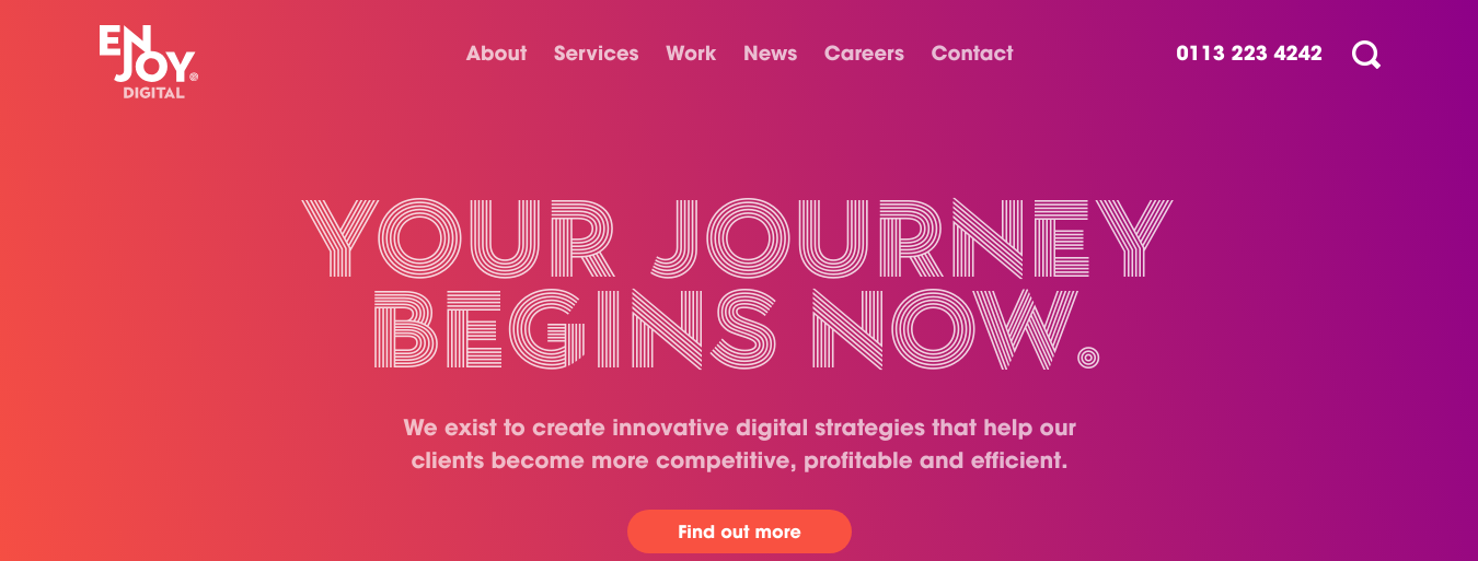 creative agency enjoy digital main page