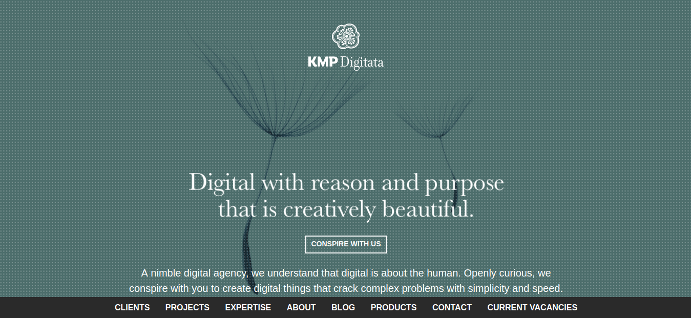creative agency kmp main page