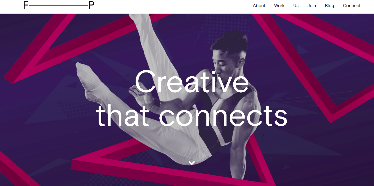 creative agency frontpage
