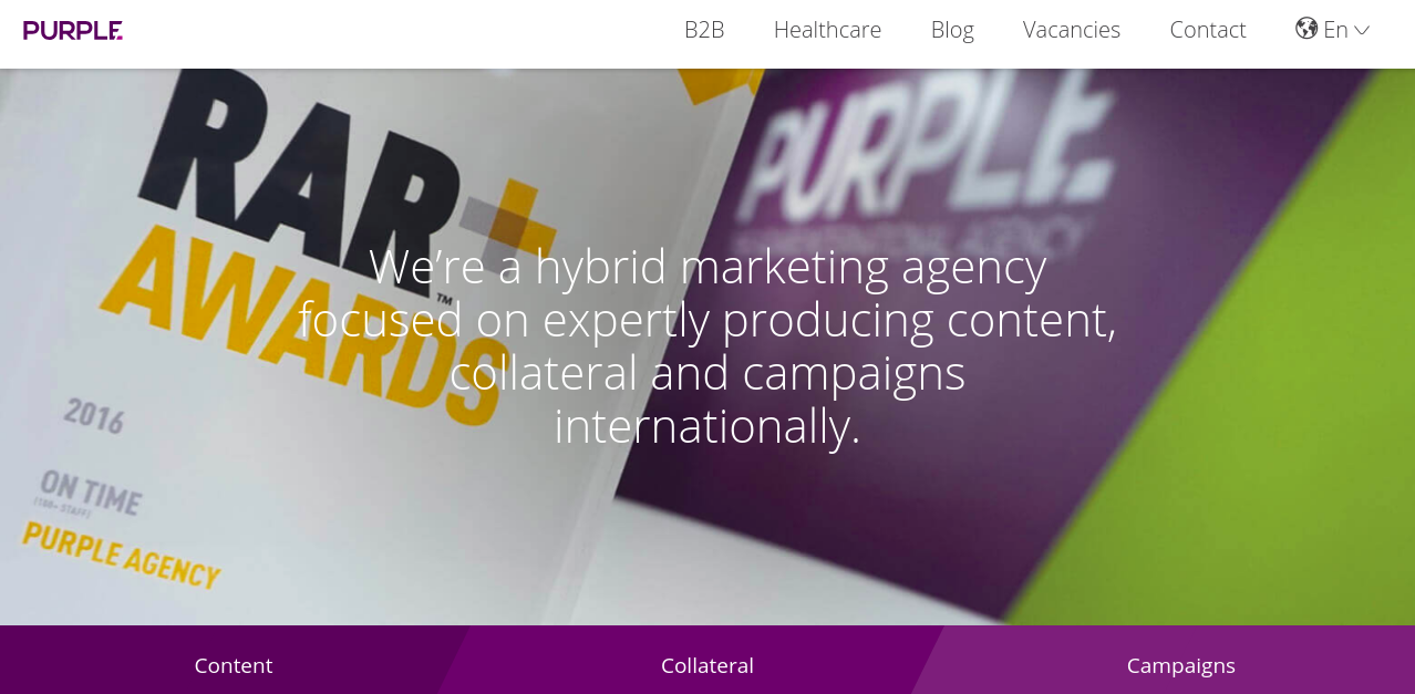 online creative agency purple