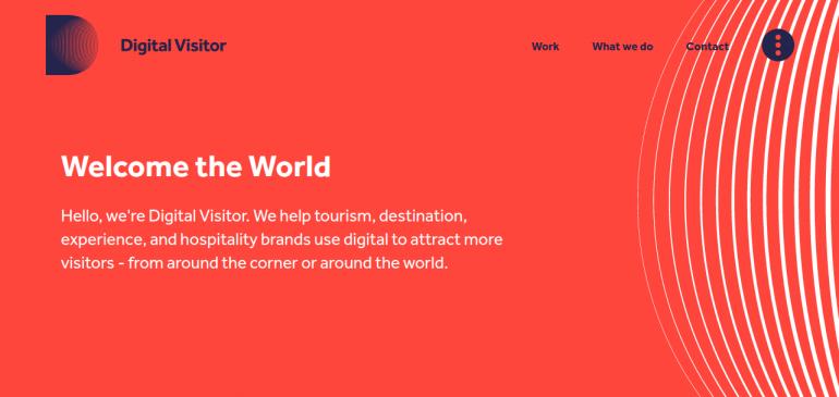 Online Creative Agency Digital Visitor